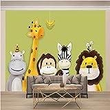 Msrahves fotomurales decorativos pared 3d Dibujos animados animal mono cebra venado...