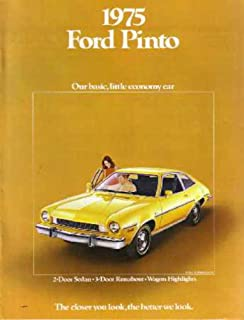 1975 Ford Pinto Sales Brochure Literature Book Piece Advertisement Specs Options