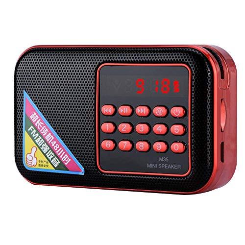 Draagbare mini-luidsprekerradio voor ouderen, 10 numerieke toetsen 87.5-108M FM-luidspreker met groot digitaal scherm, USB/TF/AUX-stem MP3-speler Radio