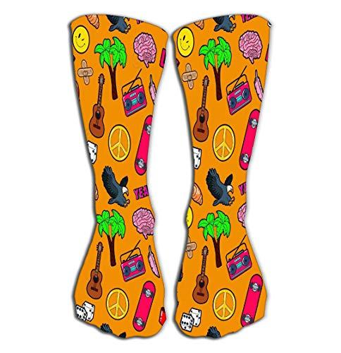 GHEDPO Hohe Socken Women's Knee High Socks Athletic Socks 19.7
