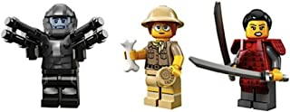 LEGO Space Galaxy Trooper, Female Paleontologist, Samurai Warrior Woman Collectible Minifigures Series 13 Custom Bundle 71008