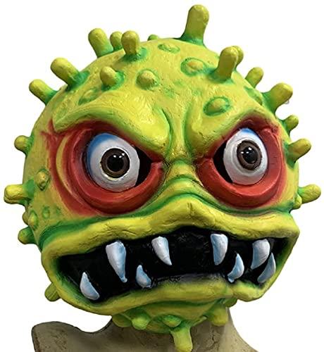 Milu deer Máscara Virus Accesorios Propaganda Antiepidémica, Máscara Disfraces Halloween, Accesorios para La Cabeza Cosplay para Fiesta Halloween (Color : Lightgreen, Size : One Size)