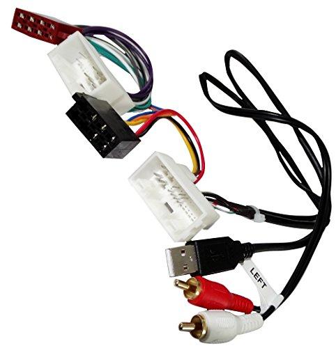AERZETIX - Adaptador Cable - Enchufe ISO USB RCA - para autoradio - C40120