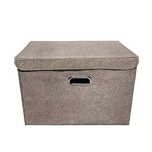 Baumwolle Leinen Stoff Kleidung Aufbewahrungskorb Aufbewahrungsbox Verdicktes Quadrat Schmutzige Kleidung Korb Tragbare Spielzeug Aufbewahrungskorb Fass