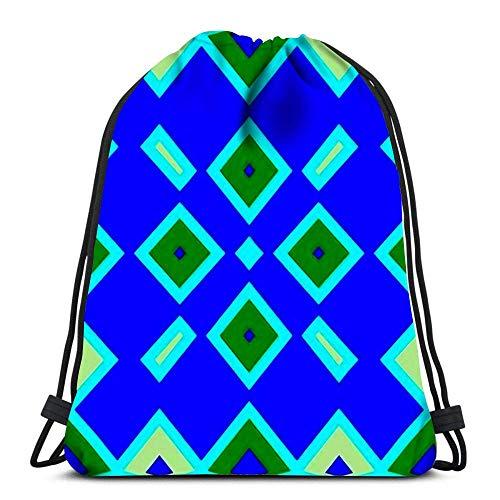 Lmtt Mochilas con cordón Mochila Seamles Patten Geométrico Simple Mochilas de Viaje Tote Mochila Escolar