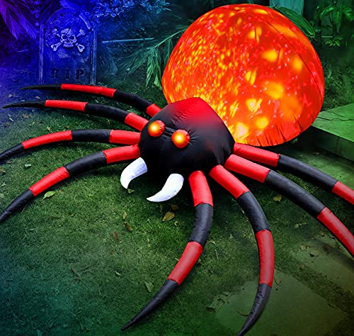 8 FT Halloween Inflatable Spider Outdoor Decorations for...