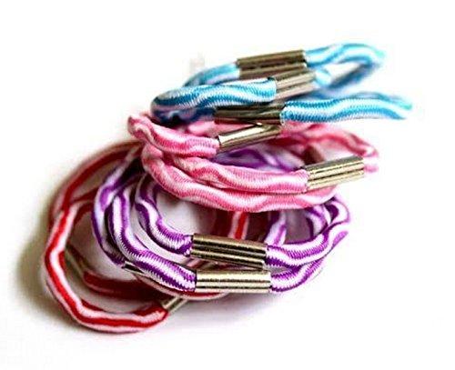 Bullahshah 5 paquets de 12 beaux nopes/cheveux élastique bande/queue de cheval cheveux bande/Ponio
