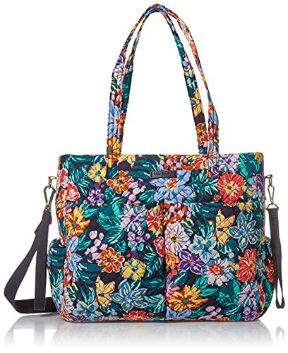 Vera Bradley Cotton Ultimate Baby Diaper Bag, Happy Blooms