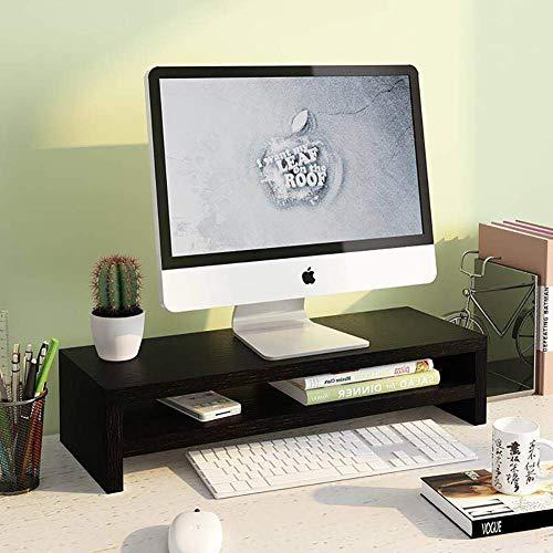 Monitorständer Desktop Organizer 2 Ebenen Multifunktionaler Speicherplatz Platz sparen Bildschirm Laptopständer Für Drucker Computer-D 50X20cm (20x8inch)