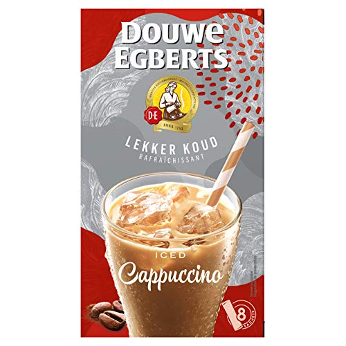Douwe Egberts Oploskoffie Lekker Koud Cappuccino, (80 Sachets, IJskoffie, Instant Koffie), 8 x 4 Zakjes