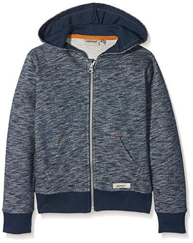 Papfar Mädchen SLUB Sweatshirtjacke GOTS Sweatshirt, Blau (Blue Nights 287), 116 (Herstellergröße: 6Y)