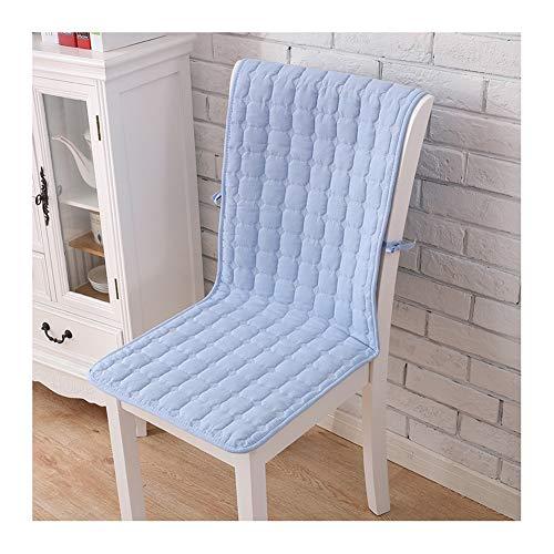 Washed katoenen schommelstoel kussens met rugleuning anti-slip bank pads met banden en opbergtas, bureaustoel kussen voor bureau stoel lounge stoel rieten stoel 50X140cm Lichtblauw