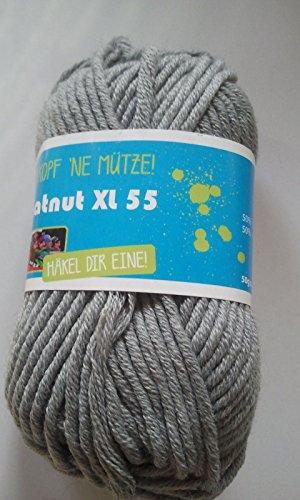 Original hatnut Mützenwolle XL 55 mausgrau