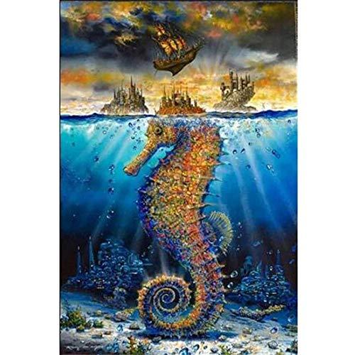 YINGXIN134 Rompecabezas para Adultos 3000 Piezas Enorme Caballito de mar en el Agua Rompecabezas 3000 Piezas para Adultos Juego de Rompecabezas Grande Juguetes Regalo 122 × 81cm