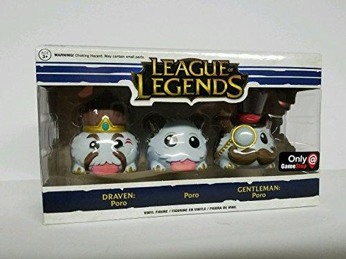 Funko League of Legends Poro 3 Pack Draven, Gentleman Gamestop Exclusive