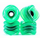 Shark Wheel 1000S70MMS78ATG Longboard Wheels, 70mm, Transparent Green, Sidewinder Formula