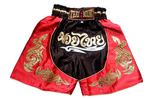 Nakarad Kid Muay Thai Boxing Shorts 2 Years Old - 10 Years Old (RED, XS)