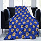 Blanket Cookies Chocolate Chip Cookie Monster Super Soft Light Weight Cozy Warm Fluffy Plush Blanket for Bed Couch Living Room