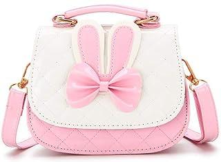 (Pink) - Suerico Cute Girls Purse Handbag Mini Cartoon Casual Messenger Shoulder Crossbody Bags (Pink)