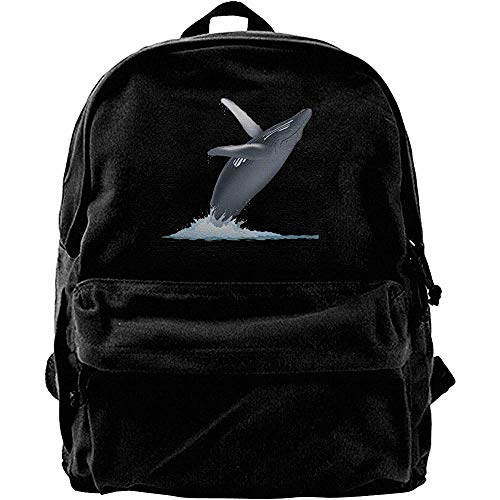 Yuanmeiju Travel Rucksack,Classic Canvas Daypack,College School Book Bags,Computer Backpacks,California Monterey Bay Whale Notebook Laptop Bag,Casual Shoulder Backpack