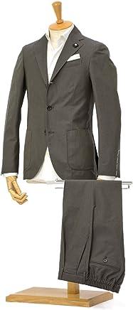 LARDINI【ラルディーニ】シングルスーツ JP087AQ/EGC52418/2 コットンウール ソラーロ ダークグリーン