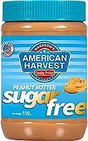 American Harvest Peanut Butter Creamy Sugar Free, 510 gm
