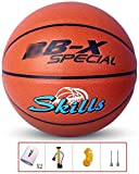 ZHOU.D.1 Basketball- Standard Basketball Indoor and Outdoor No. 7 Basketball Size 9.7 Inches (24.6cm), with Pump and Sports Wristbands (Size : A)