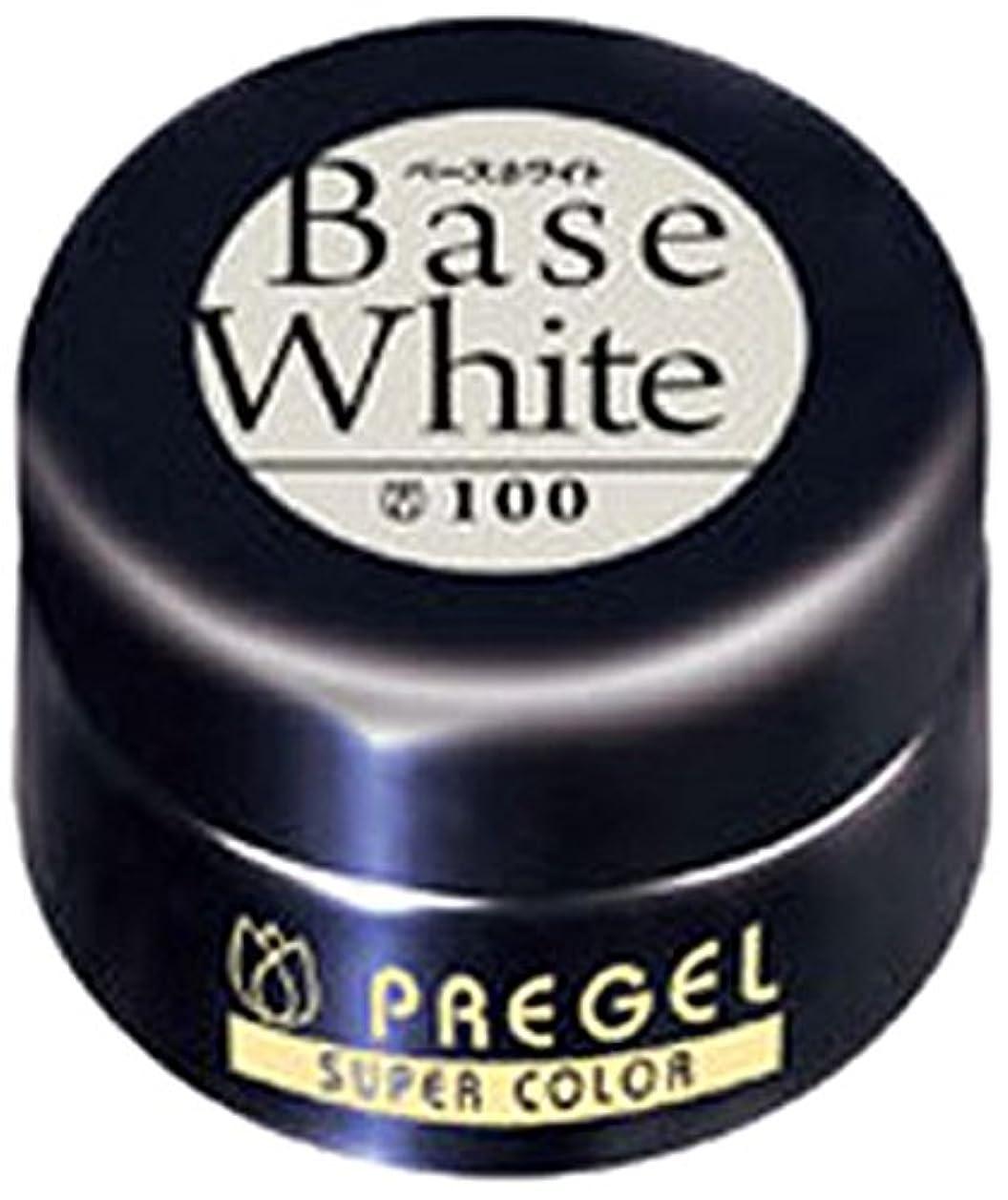 関税予想する洗うプリジェル スーパーカラーEX ベースホワイト 4g PG-SE100 カラージェル