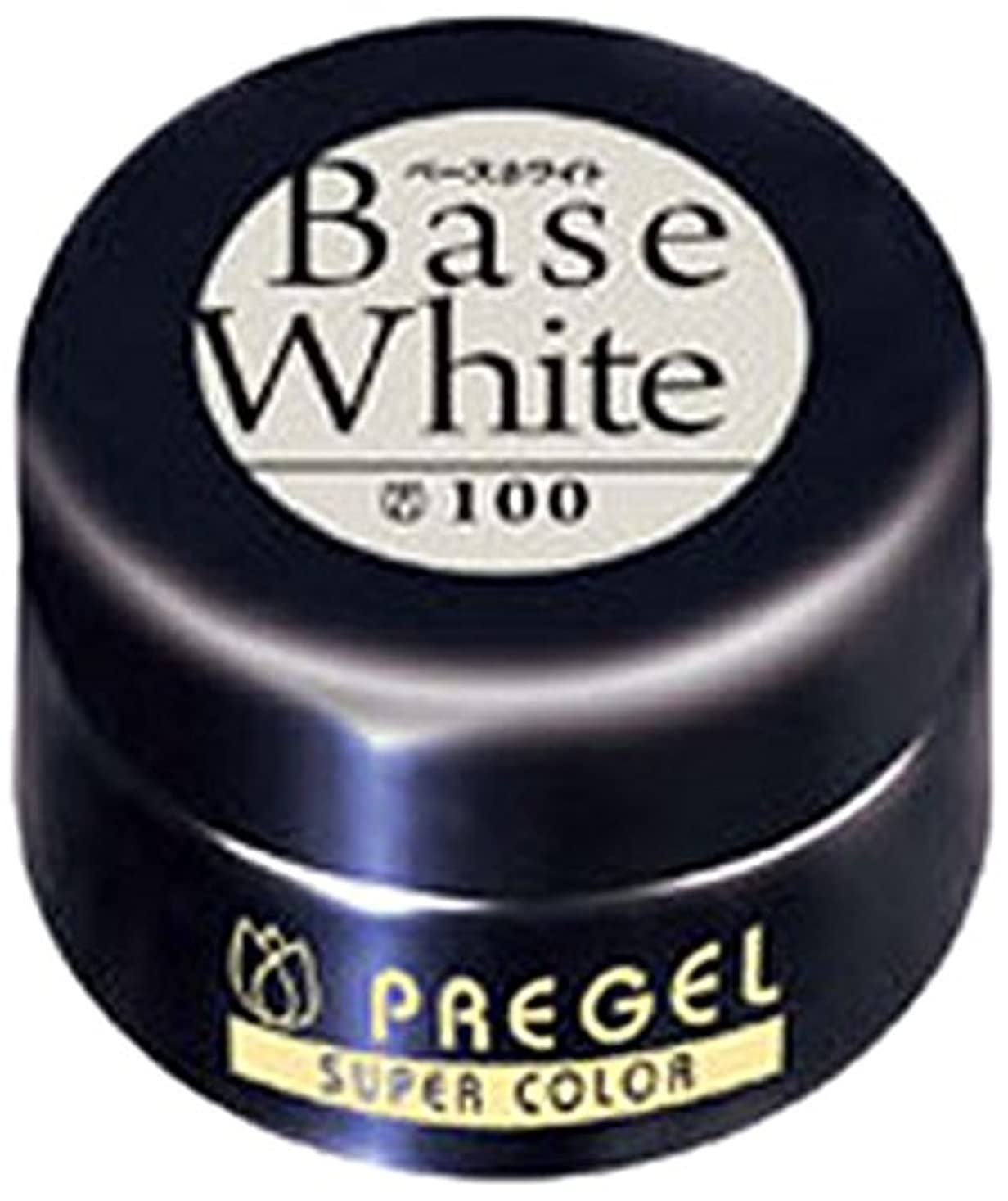 敬中級十分ですプリジェル スーパーカラーEX ベースホワイト 4g PG-SE100 カラージェル
