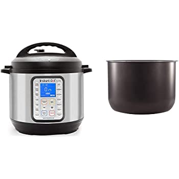 Instant Pot Duo Plus 9-in-1 Electric Pressure Cooker, Sterilizer, Slow Cooker, Rice Cooker, Steamer, 8 Quart, 15 One-Touch Programs & Ceramic Non Stick Interior Coated Inner Cooking Pot 8 Quart