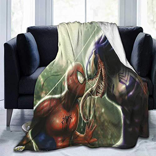 Plaid Spiderman et Venom rn en flanelle douce pour enfant ou adulte 152 x 127 cm