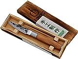 Forged Olive Schälmesser 9cm, handgefertigt, in Holzkiste