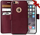 iPhone 6, 6s Wallet Case, Durable and Slim, Lightweight with Classic Design & Ultra-Strong Magnetic Closure, Faux Leather, Burgundy, Apple 6/6s (4.7 in)