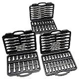 Steckschlüssel Set 88-tlg. mit Innensechsrund, Innen Vielzahn & Innensechskant, in 3 Werkzeugkoffern