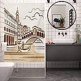 Vinilo adhesivo para ventana antiUV, diseño de Venecia de Landsca veneciana tranquila, película de...