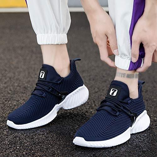 LOVDRAM Chaussures Hommes Nouveau Printemps Volant Tissé Hommes Chaussures Hommes Casual Chaussures De Sport Chaussures De Mode des Hommes Coréen De La Dentelle Porter des Chaussures De Course