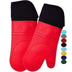 Heat-Resistant and Flame Retardant – Offering protection up to 450°F, our oven gloves with quilted cotton lining offer improved comfort while cooking. They will also spare tender forearms from burns that can occur when your outdoor grill experiences ...