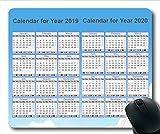 2019 Kalender-Mauspad personalisiert, EIN Kalender Gaming-Mauspad, Kalenderplaner 2019 mit Feiertagsdetails