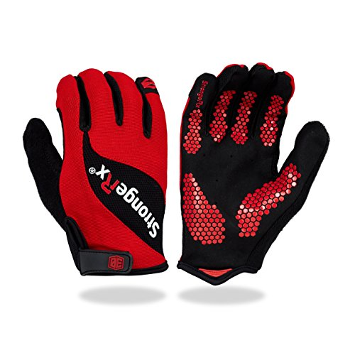 Stronger Rx 3.0 WOD Fitness Handschuhe (Rot, Small)