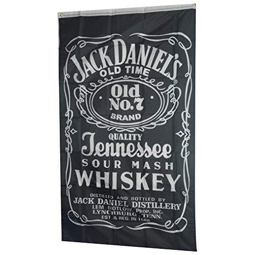 NiceButy 3x5 ft. Jack Daniels Banner mit Hellen Farben und Fahnen UV Fading digital Bedruckt mit Metallringen für im Freien oder Innenbereich Haushalt Dekoration