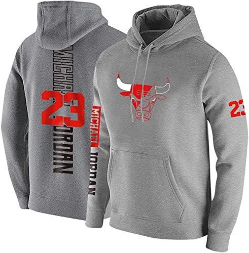 HEJX Bulls 23 Sweat /à Capuche Chandail de Basket-Ball Hommes Printemps et en Automne Hiver Pull /à Capuche