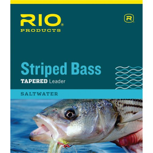RIO Fly Fishing Striped Bass 7' 12Lb 6kg Fishing Leaders, Clear