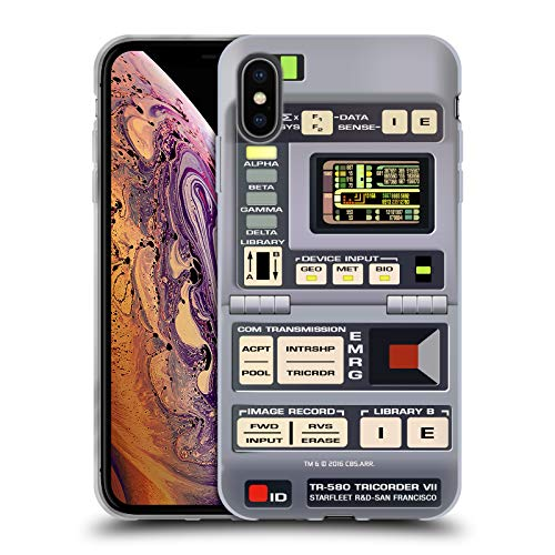Head Case Designs Officially Licensed Star Trek Tricorder Gadgets TNG Soft Gel Case Compatible with Apple iPhone Xs Max