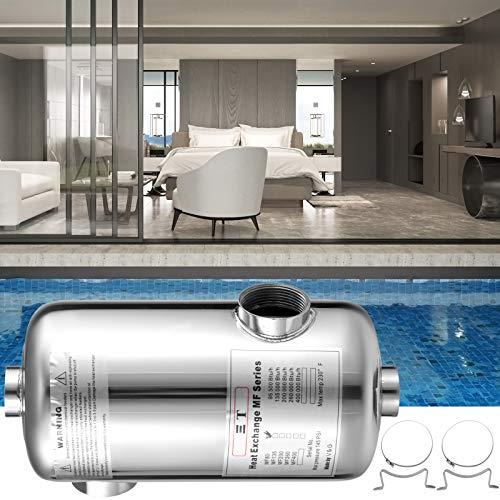 VEVOR Schwimmbad Wärmetauscher 95 KBtu/h für Schwimmbäder, Spas, Whirlpools usw. Edelstahl Wärmetauscher Pool