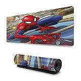 Tapis de souris de jeu Marvel Spiderman en caoutchouc durable avec bords cousus pour clavier et ordinateurs portables