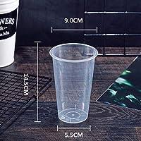 KMDSM 50pcsの90口径透明コーヒーカップパーティーの誕生日賛成500ミリリットルのジュース茶冷たいドリンクプラスチックコップ (色 : Only cup, サイズ : 50pcs)
