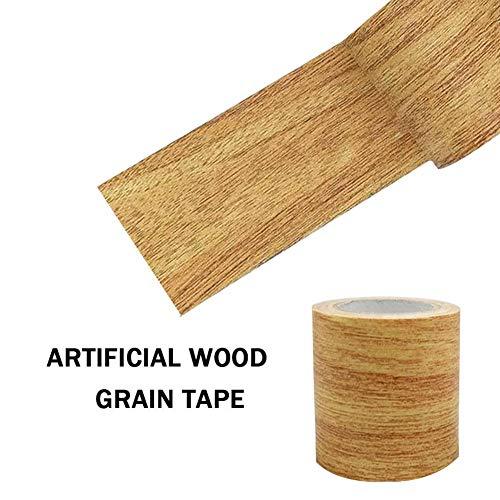 Möbelband verschönert Möbelboden Reparatur Klebeband Holzeffekt Reparatur Klebeband Klebeband für Möbel Tür Boden Tisch und Stuhl, beige