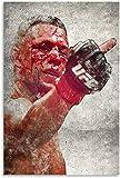 DINGDONG ART Lienzo De Impresión 30x50cm Sin Marco Póster de Nate Diaz, Arte Decorativo para Pared, póster para Sala de Estar, Dormitorio
