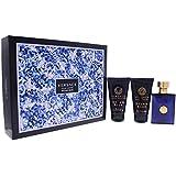 Versace 3 Piece Dylan Blue Eau de Toilette Spray Gift Set for Men