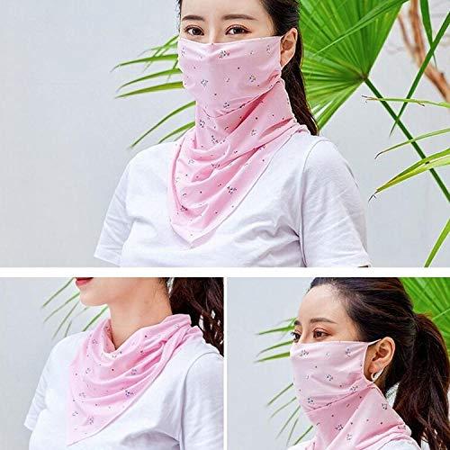 Bayrick Eisseide Sonnenmaske Outdoor Radfahren Halstuch Sonnenschutz Sonnenschutzmaske Schal-Pink